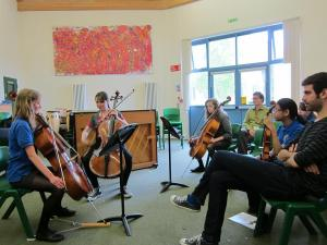 Giving Masterclass in Cotswolds School with the Bedriska Trio