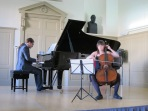 Leonid Smith and Felicity Young Duo Competition Winners Miriam Wakeling and Panaretos Kyriatzidis performing Grieg's Sonata for Cello and Piano